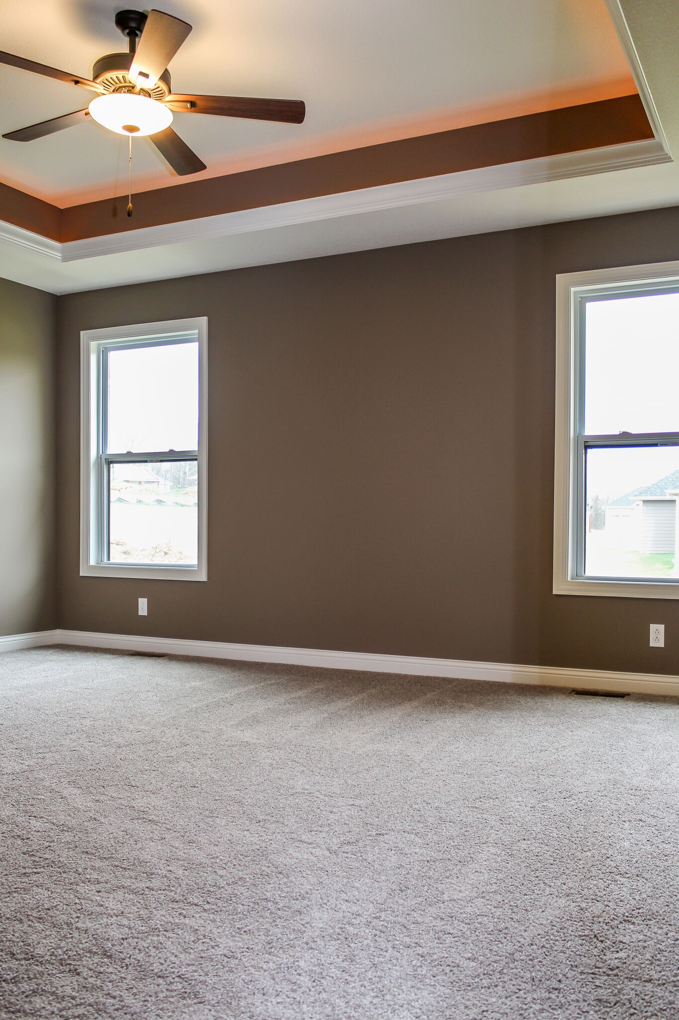 Bedroom in a custom home in Columbia, Mo