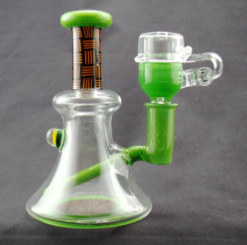 BG Glass Chip Stack Mini Tube W/ Matching Bucket/Clear Cap- Green Mantis