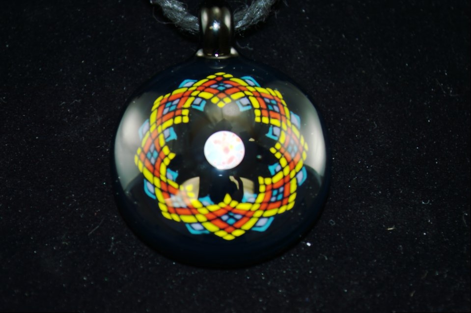 bo howe fillacello pendant w opal - Heady Glass Pendants