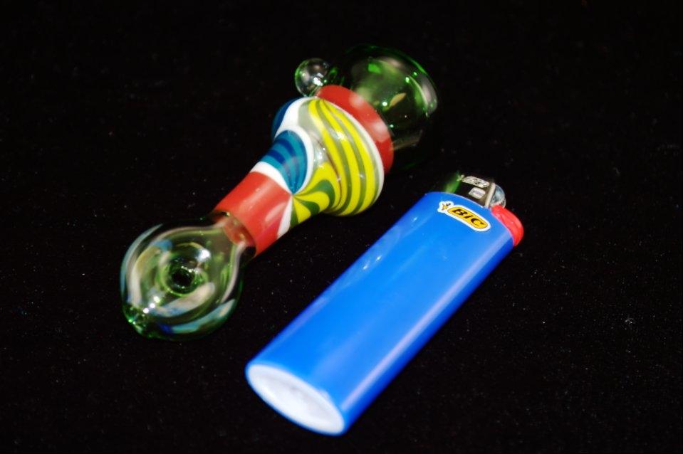 DaniGirl Glass Worked Onie- Yellow/Red