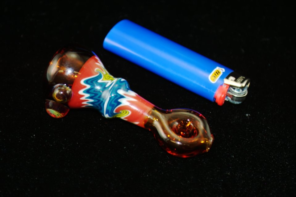 DaniGirl Glass Worked Onie- Blue/Red