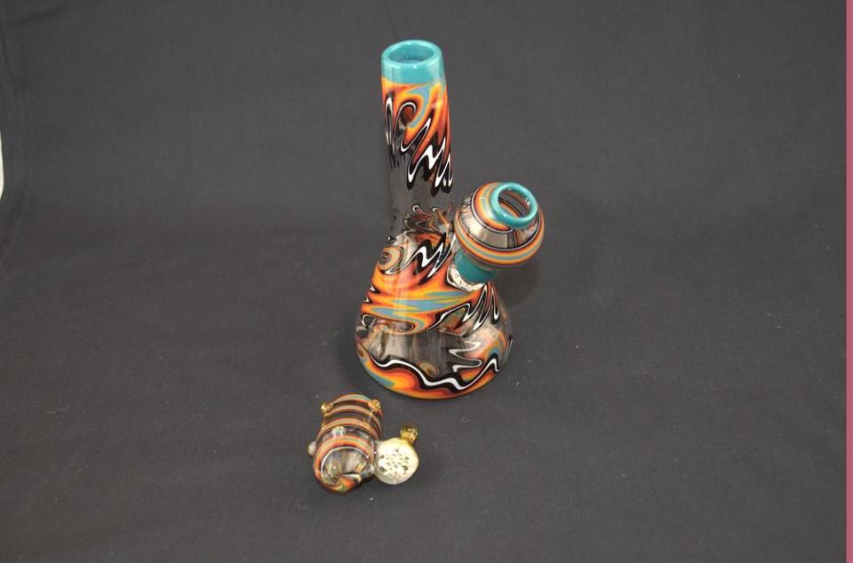 Glasshopper Glass Blue Lip Mini Tube
