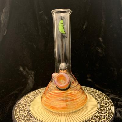 Space Glass grommet beaker 14mm female w/ bowl