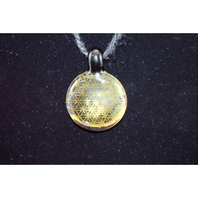 Hefe Glass Flower of Life Pendant