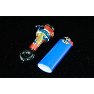 DaniGirl Glass Worked Onie- Blue/Yellow/Red