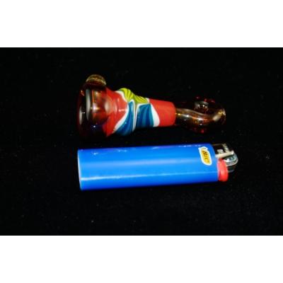 DaniGirl Glass Worked Onie- Blue/Red/Yellow