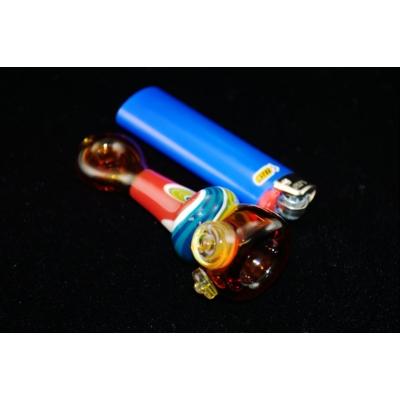 DaniGirl Glass Worked Onie- Blue/Red