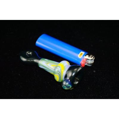 DaniGirl Glass Worked Onie- LightBlue/Yellow