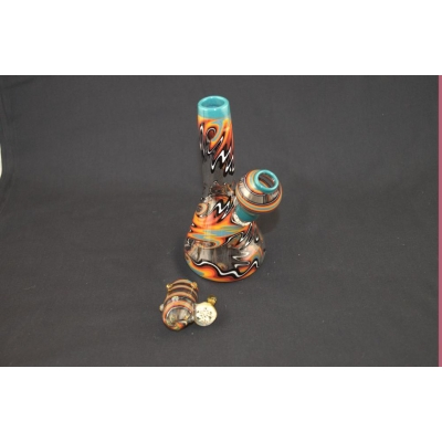 Glasshopper Glass Blue Lip Mini Tube