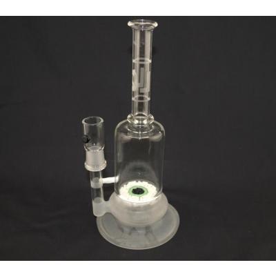 LQL Glass Jimmie Disc Tube- White/Black