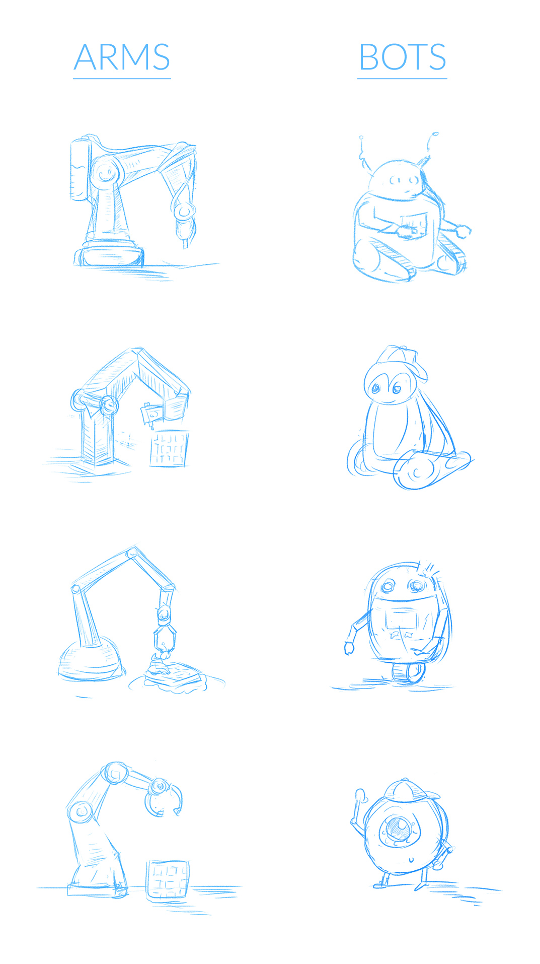 WaffleBot robots and arms