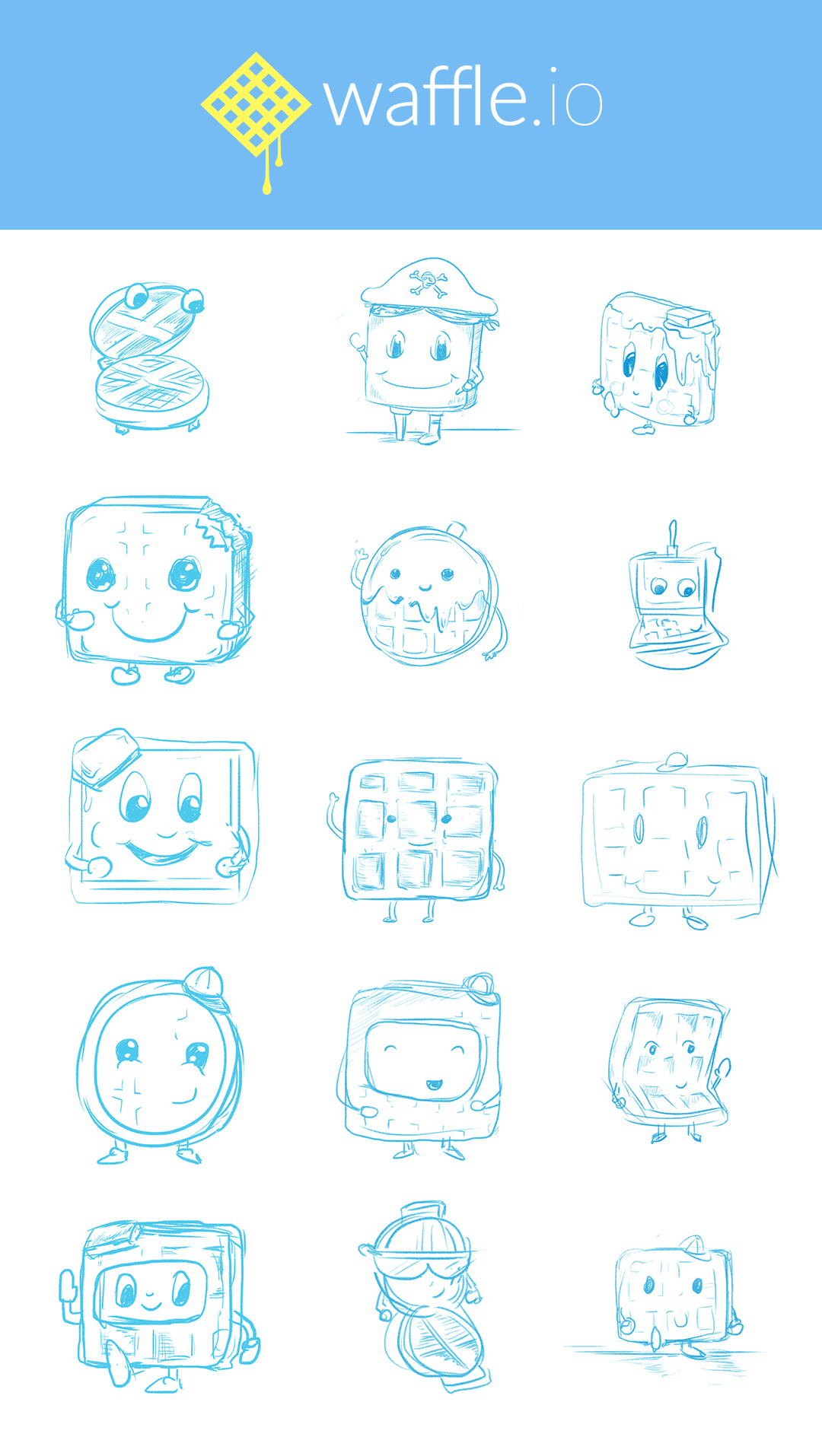 Wafflebot rough sketches