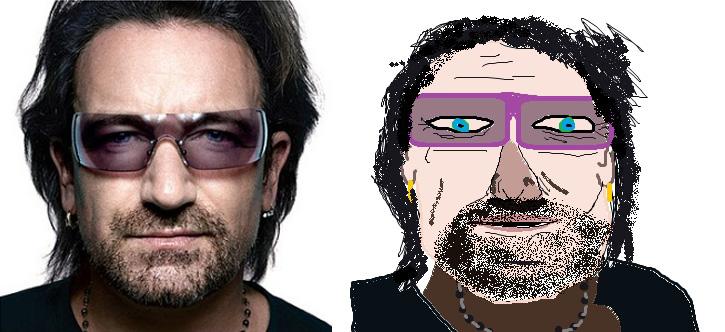 Bono in MS Paint