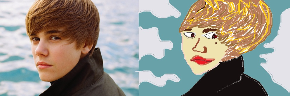 Justin Bieber in MS Paint