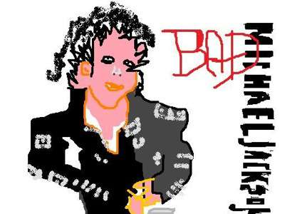 Michael Jackson Bad Cover in MS Paint