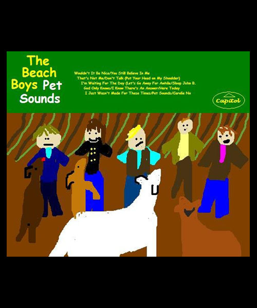 Beach Boys Pet Sounds Cover in MS Paint