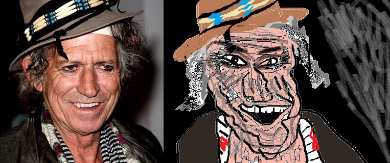 Keith Richards in MS Paint