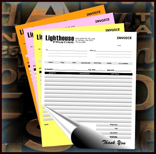 Custom Carbonless Forms Printing Carbon Copy Forms Invoices - Custom carbon paper invoices