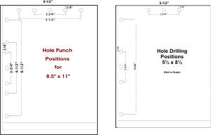 If You Need Your Print Project To Fit Into A Binder Choose One Of The Hole Drilling Options That Suits Needs Distance Holes Center