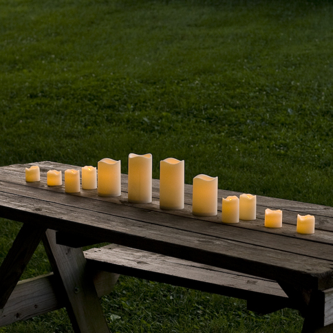 Flameless Resin Candles with Warm White or Color Change Options, Set of 12