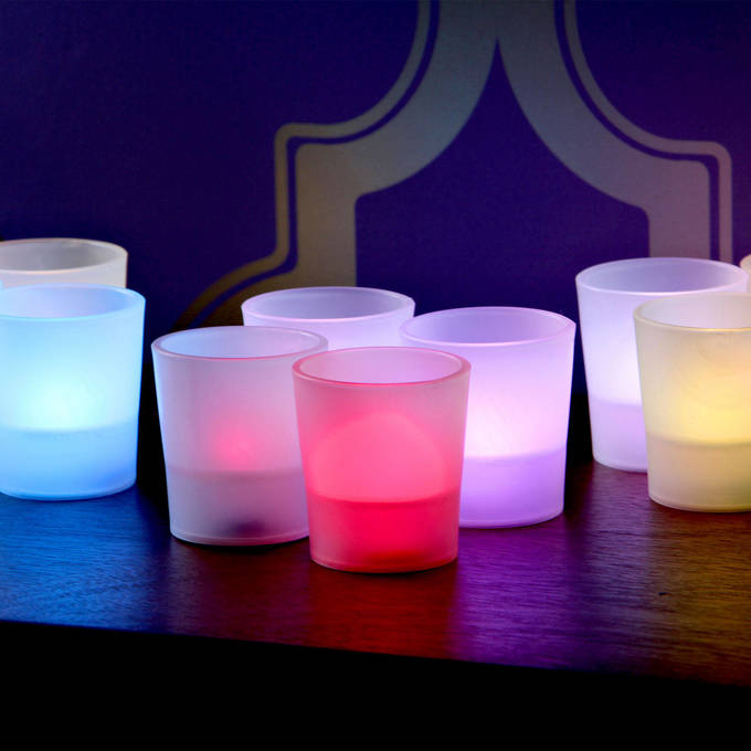 Color Changing Flameless Party Votives, Set of 12