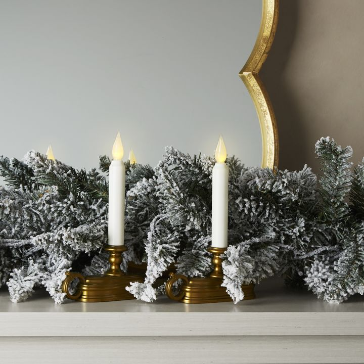 """White 9"""" Flameless Window Candle, Set of 2"""