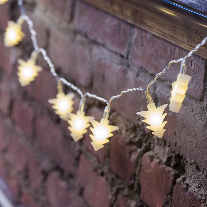 White Tree LED Battery String Lights