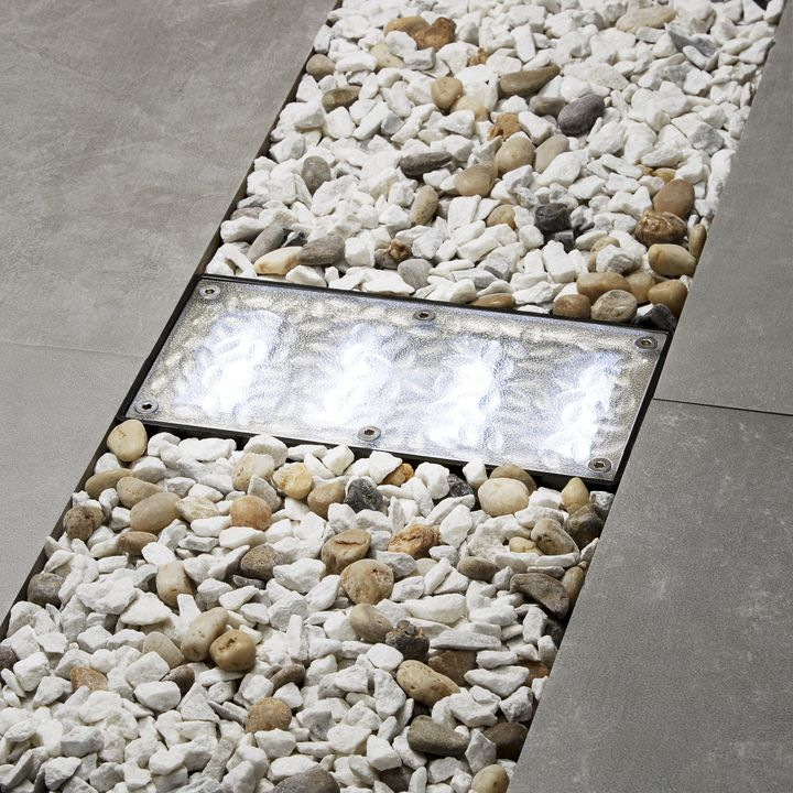 "Iced 8x4"" Solar Paver Light, Cool White"