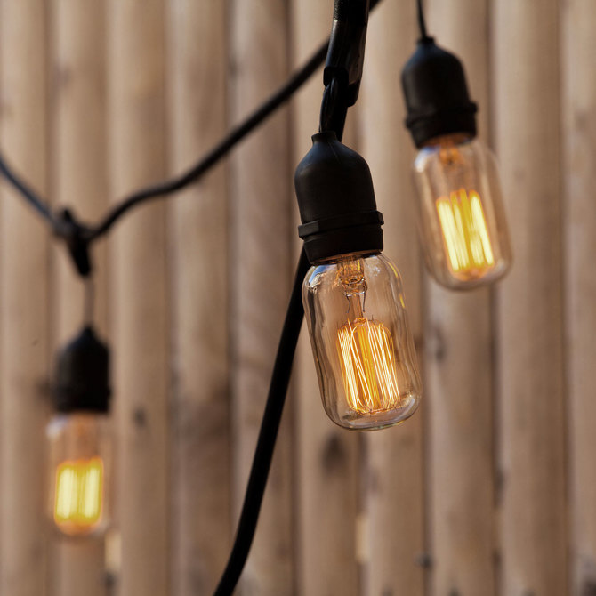Vintage string lights outdoor bistro and festoon lights lights williamsburg bulbs with heavy duty 10 socket vintage light strand mozeypictures Choice Image
