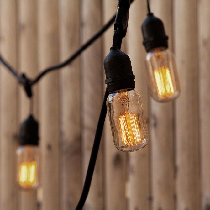 vintage string lights outdoor bistro and festoon lights lights com