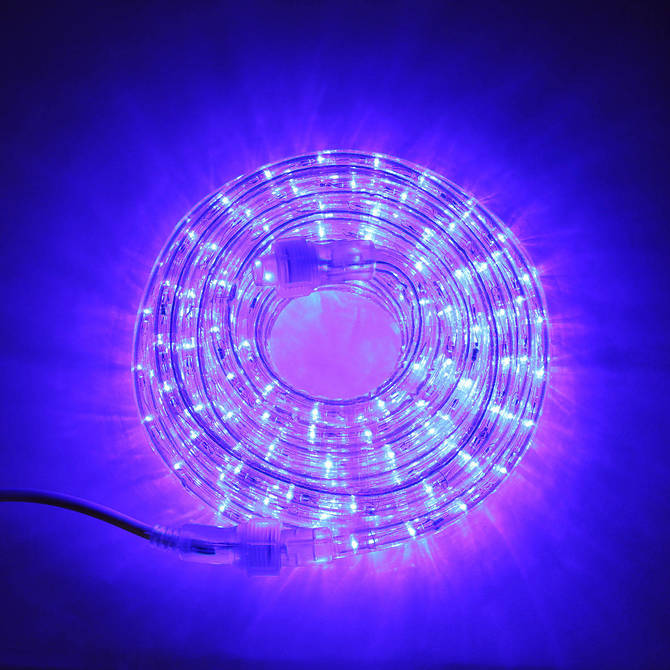 Super Bright Plasma Expandable LED Plug-in Rope Lights, Blue