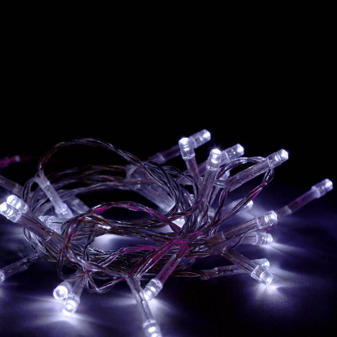 super bright cool white 30 led battery string lights set of 3 - Led Christmas Lights For Sale