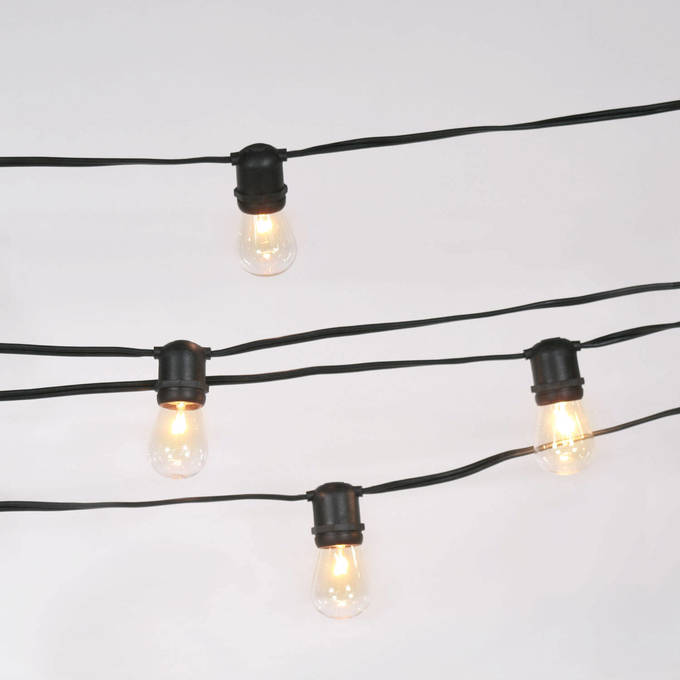 Connectable Heavy Duty 24-Socket Vintage Light Strand with Bulbs