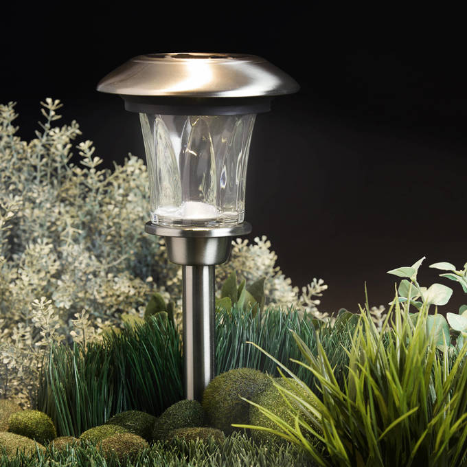 Solar lighting outdoor lights lights heavy duty stainless steel 14 warm white led solar path lights aloadofball Images