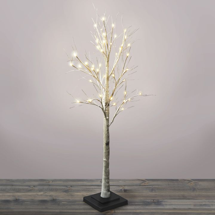 Warm White LED Birch Tree, 4.5 ft.