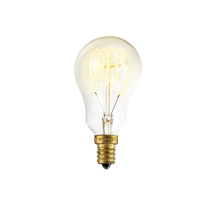 Coney Island Mini A15 Vintage Candelabra Bulb, 40W (E12) - Single