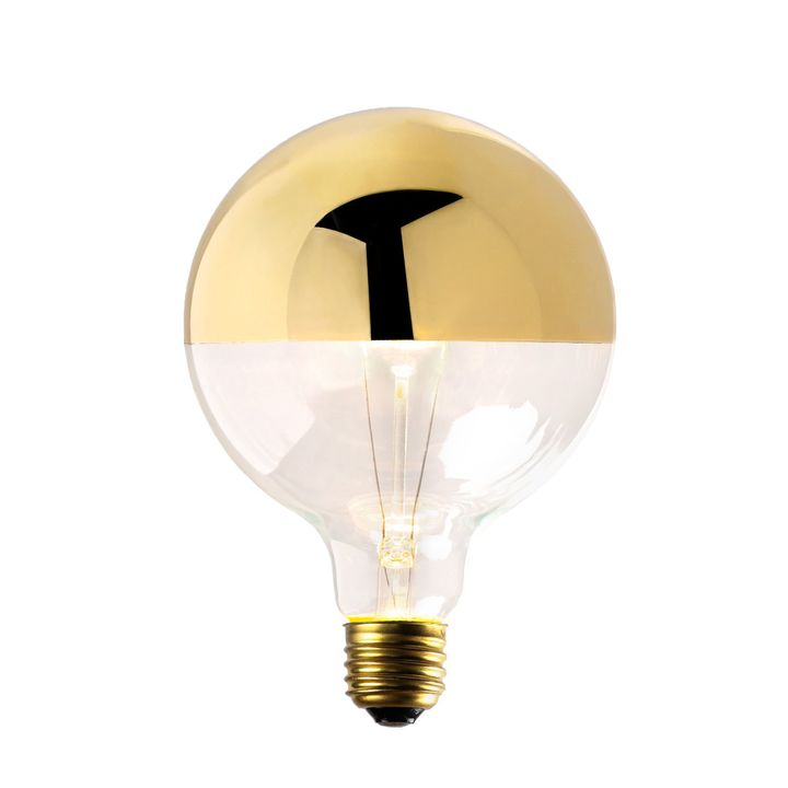 Gold-Tipped G40 Incandescent Bulb, 40W (E26) - Single