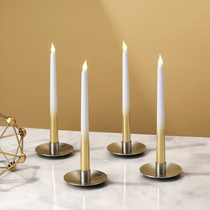 Gold Ombre Taper Candles, Set of 4