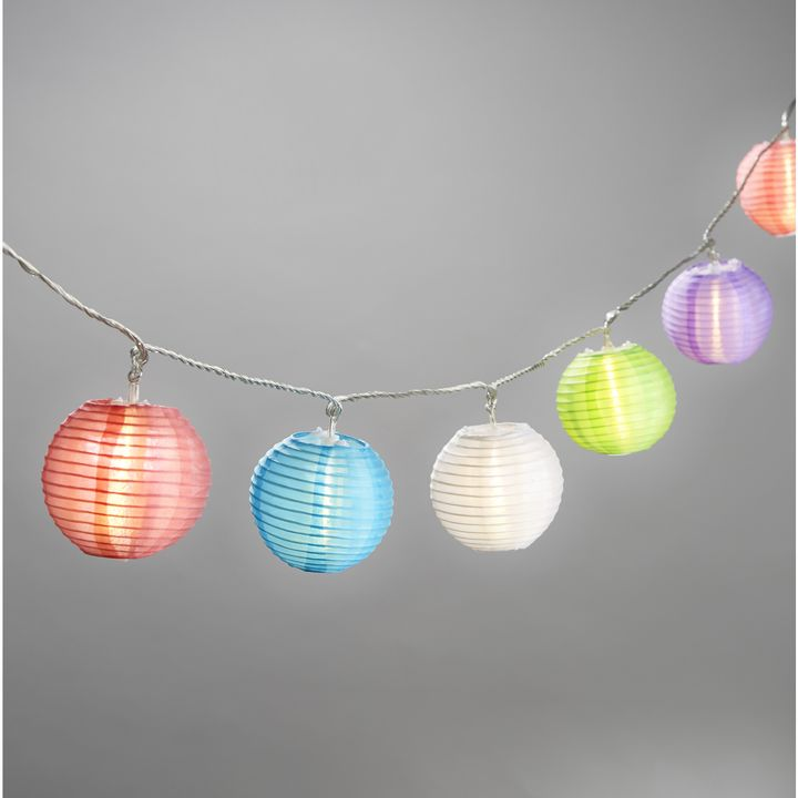 """Multicolor Mini Oriental 3"""" Expandable Plug-in String Lights, Strand of 20"""