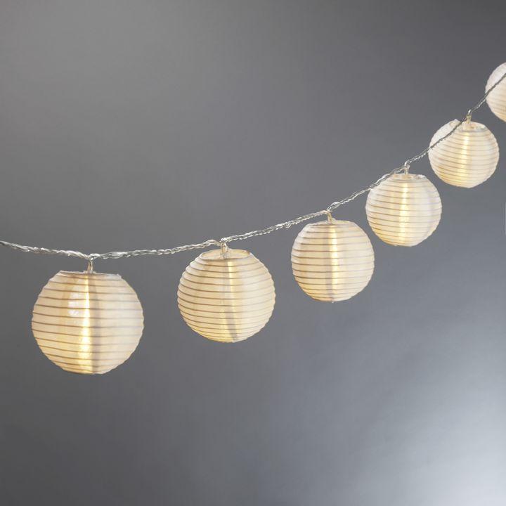 decorative string lighting. white mini oriental 3 decorative string lighting