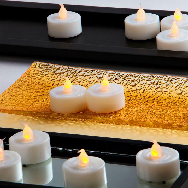 Alma White Flameless Tea Lights, Set of 25