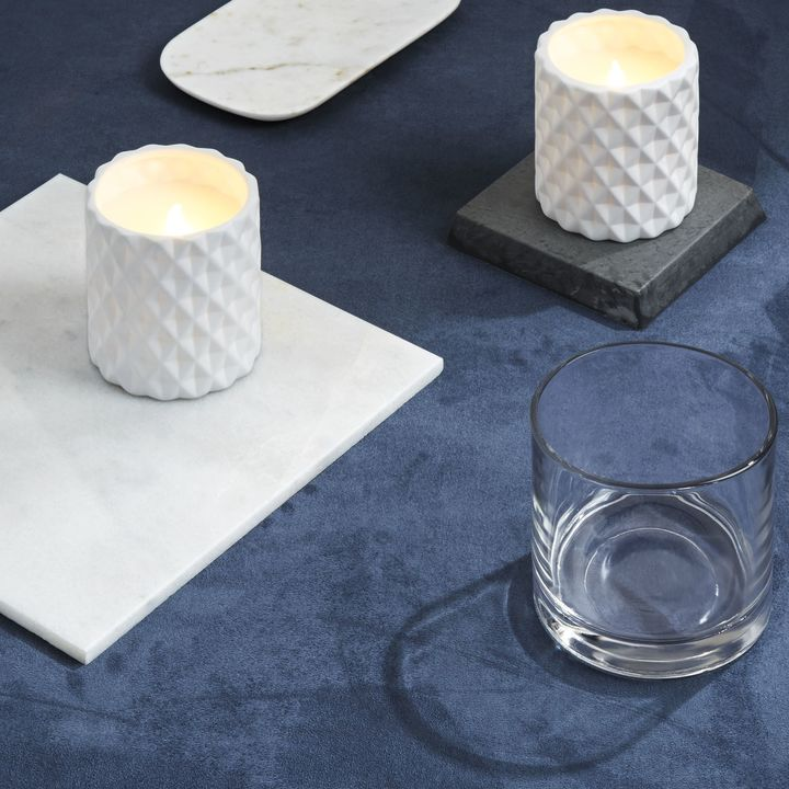 Breo Matte White Flameless Candle, Set of 2