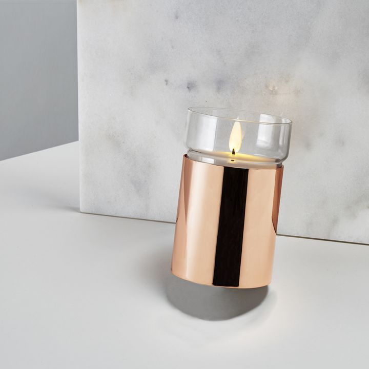 Surreal Flame Candle, Rose Gold