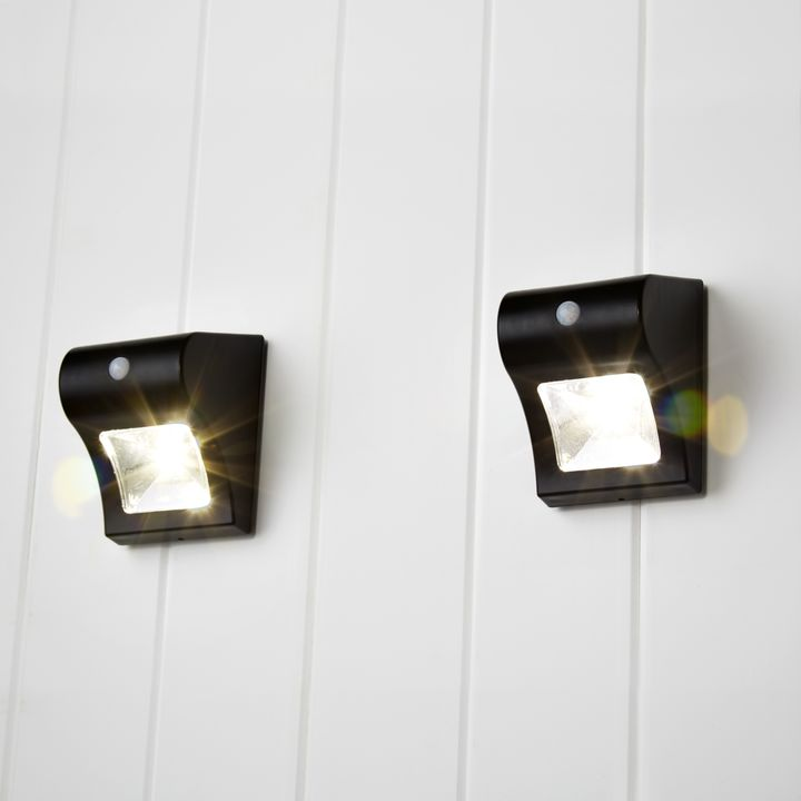 Solar Outdoor Wall Lighting Solar wall lights outdoor lighting lights onada black solar wall light set of 2 workwithnaturefo
