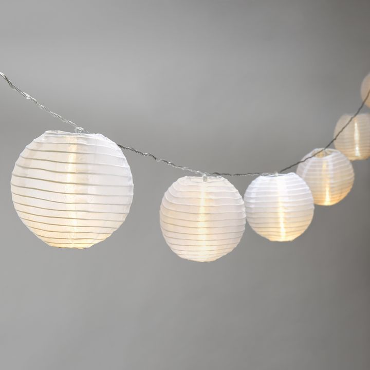 "Ara White 6"" Lantern String Lights, Strand of 10"