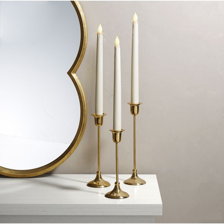 Arden Brass Taper Candle Holder, Medium