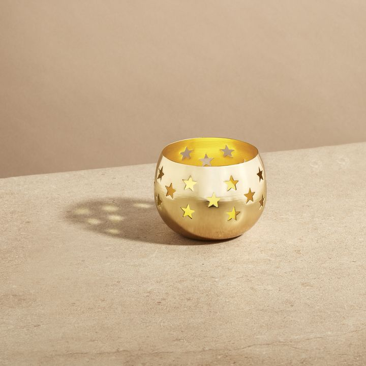 Starry Night Gold Votive Candle Holder