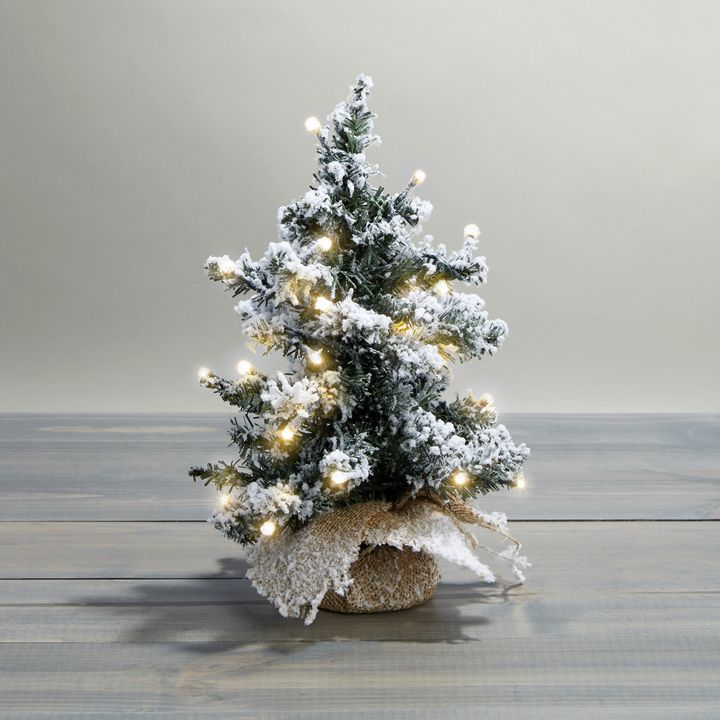 Telluride Frosted Faux Pine Tree, 12""