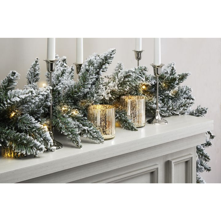 Telluride Frosted Faux Pine Garland, 9 ft