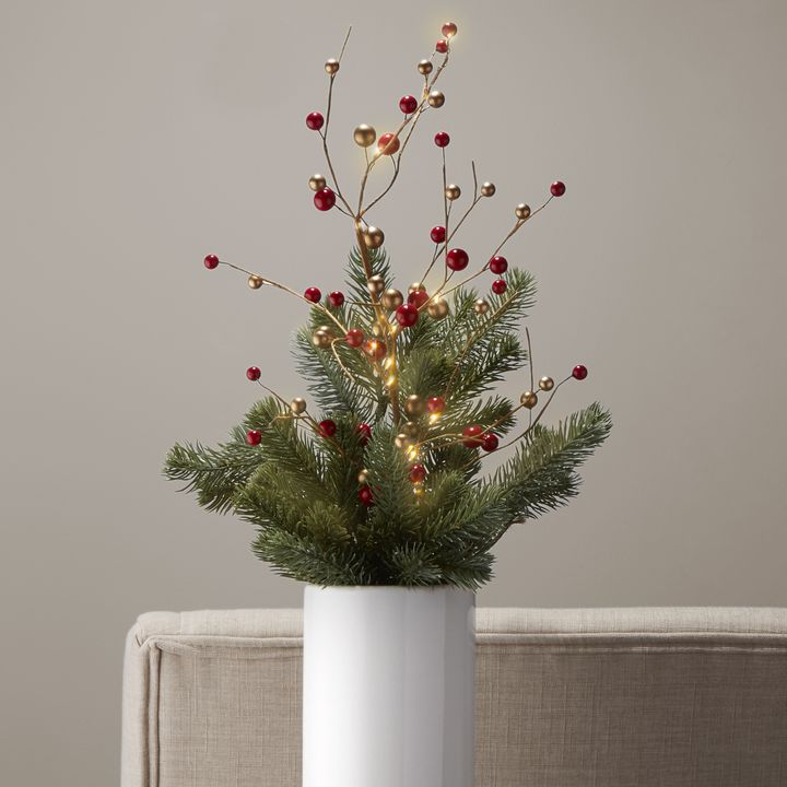 LED Holiday Berry Stem